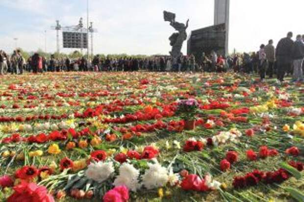 Латыши приняли участие в праздновании Великой Победы