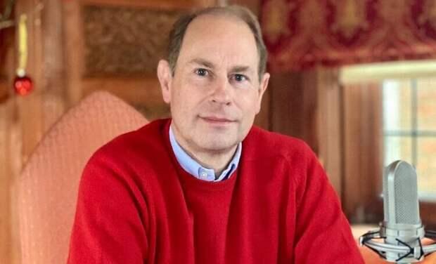 Трудности удаленки: младший сын Елизаветы II принц Эдвард увлекся переменой фонов во время звонка по видеосвязи