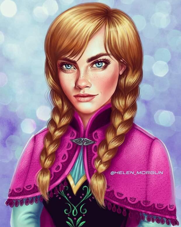 Знакомые лица: знаменитые актрисы в образах принцесс Диснея