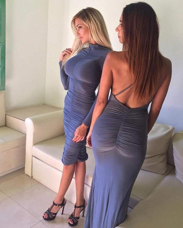 Девушки в обтягивающих платьях (57 фото)