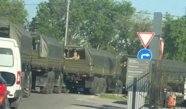 Военные покинули заблокированные аксайские рынки