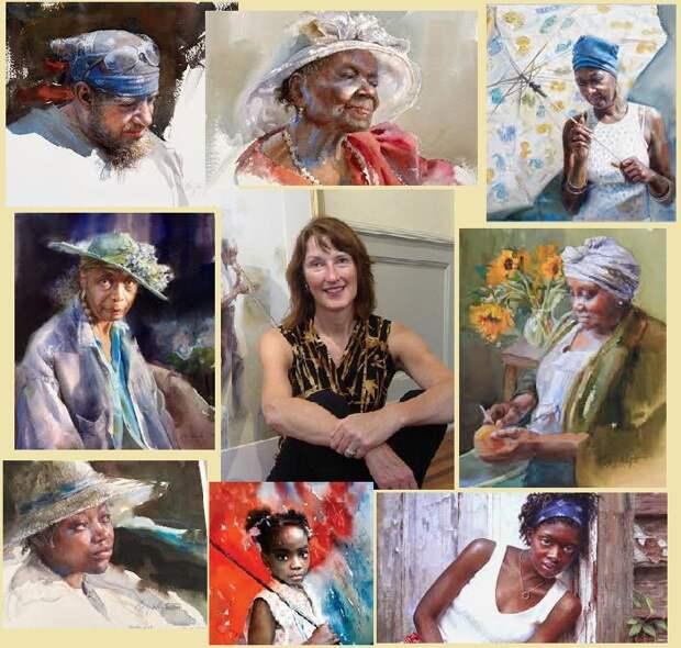 Самобытные акварельные портреты американской художницы Мэри Уайт (Mary Whyte).
