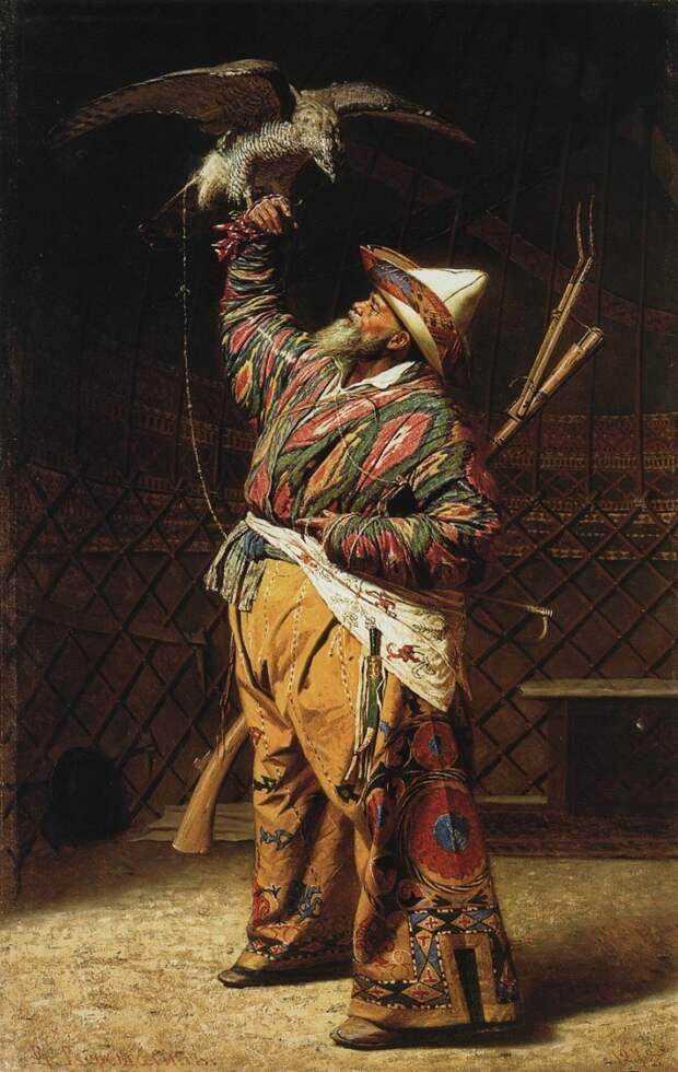 bogatyj-kirgizskij-ohotnik-s-sokolom-1871