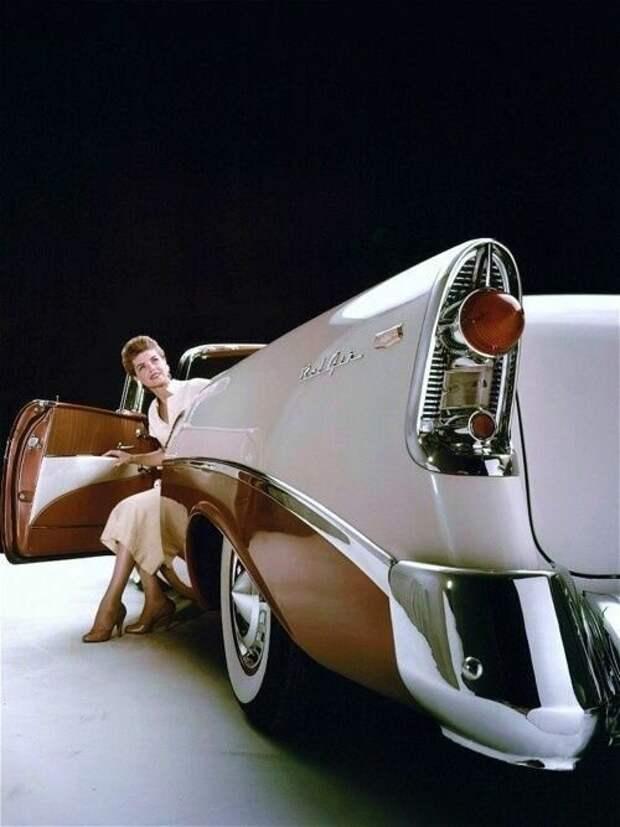 1956 Chevrolet Bel-Air Convertible. автомир, интересное, красота, плавниковый стиль, факты