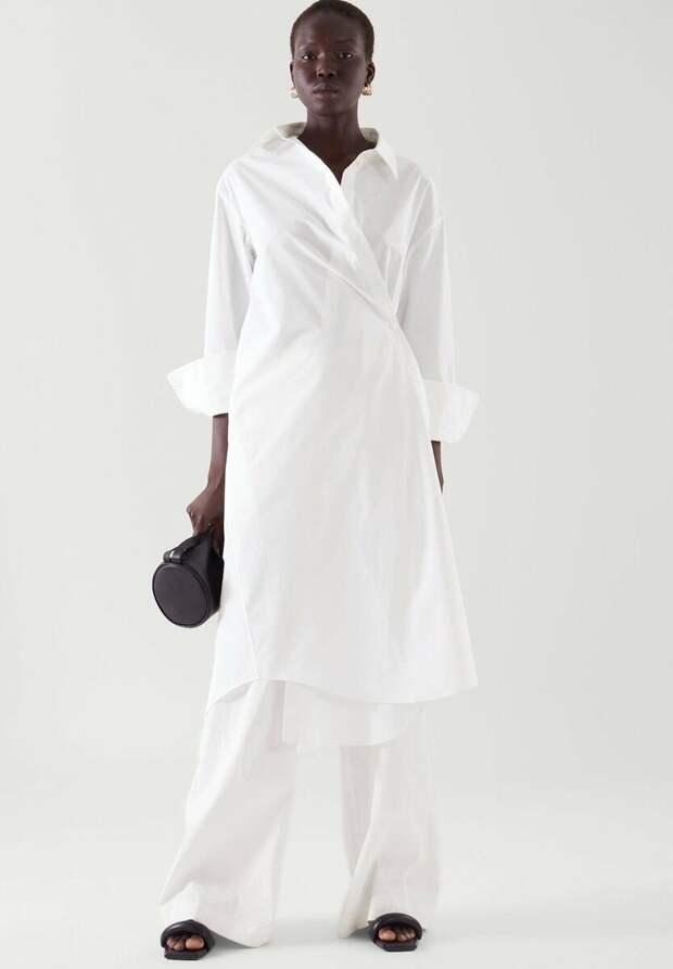 Платье-рубашка COS с запахом
