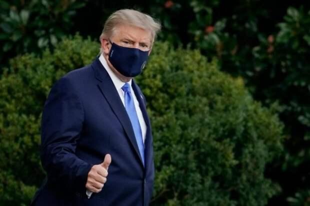 Трамп доставлен на вертолёте в военный госпиталь