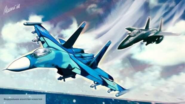 Military Watch объяснило, почему в США решили раскрасить свой истребитель в цвета Су-27