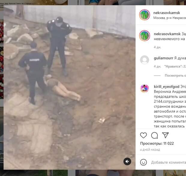 Полуголый мужчина забрался на стройплощадку в Некрасовке