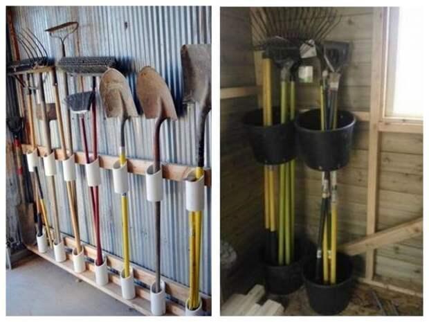 Все в дело: крепления для инструментов из обрезков труб и строительных ведер