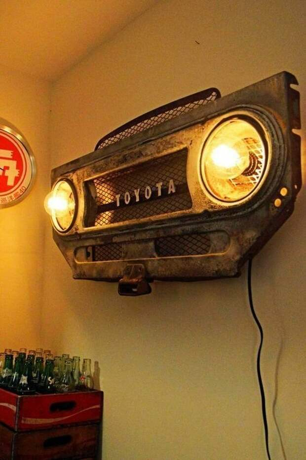 13. Оригинальный светильник дизайн, идеи, мужские штучки, очумелые ручки, прикольно, своими руками