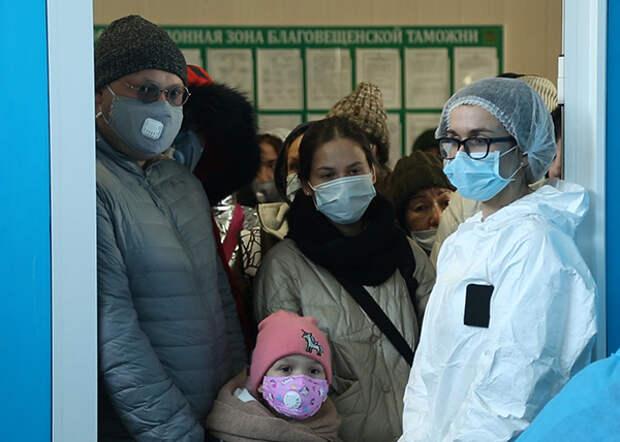 россияне, прибывшие из Китая в Благовещенск (2020)  Фото: amurobl.ru