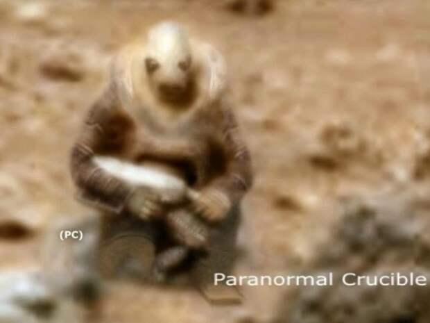 СМИ заинтересовались «инопланетным воином» на Марсе