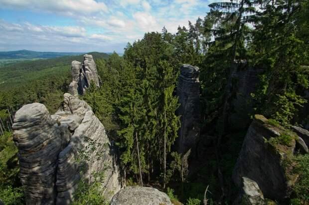 Впечатляющие Праховские скалы в Чехии