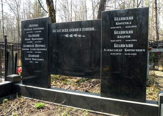Могила актера на Кузьминском кладбище
