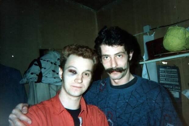 "Актеры ""Маски–шоу"" Георгий Делиев и Борис Барский, 1990–е годы, Украина"
