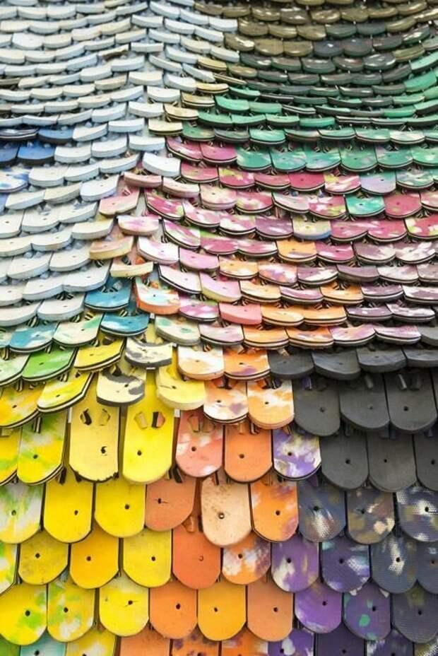 """Это тапочки-""""въетнамки"""" Материалы, Фабрика идей, интересное, красиво, крыши, необычное, стройка"""