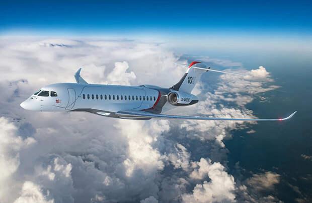 Ультрабыстрый и ультрадальний: Dassault представил новый бизнес-джет Falcon 10X
