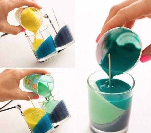 Никогда бы не догадалась использовать цветные мелки таким образом!
