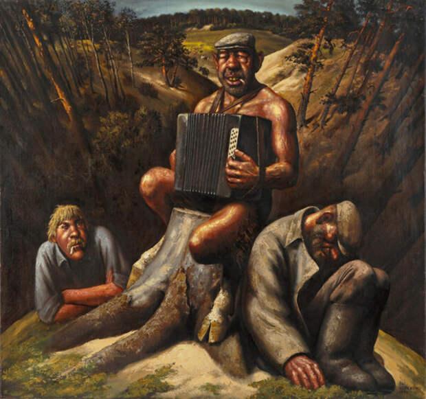 Алкоголь и нищета. Российская глубинка в картинах В.Шульженко