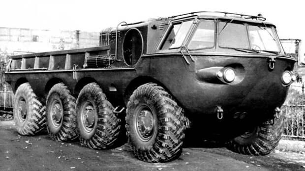 260-сильная амфибия ЗИЛ-135 со сварным корпусом. 1958 год  история, ссср, факты
