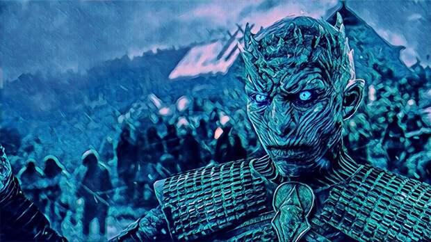 """знал ли создатель """"Игры Престолов"""" что его Король Мертвых , это русский демон Карачун и возможно Кощей Бессмертный? (авторский скетч кадра из к/ф)"""