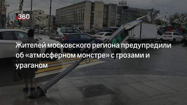 Жителей московского региона предупредили об «атмосферном монстре» с грозами и ураганом