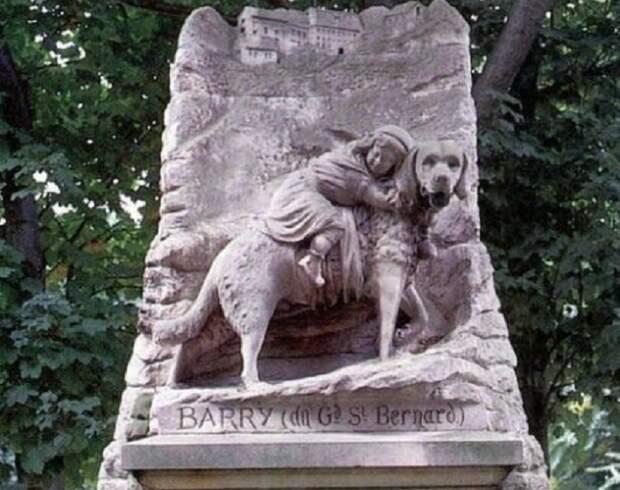 Самый известный памятник собаке породы Сенбернар