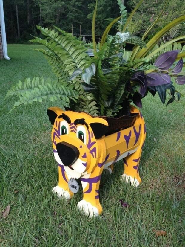 Забавные скульптуры для сада: веселые идеи для вдохновения 6
