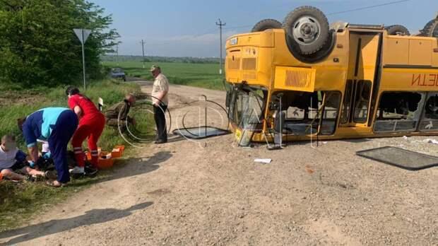 СК организовал проверку после аварии с перевернувшимся на крышу автобусом на Кубани