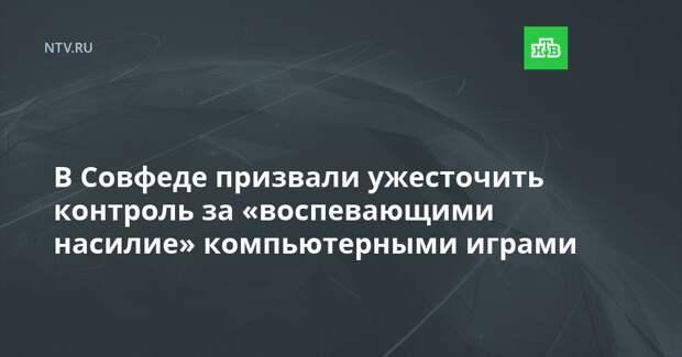 В Совфеде призвали ужесточить контроль за «воспевающими насилие» компьютерными играми