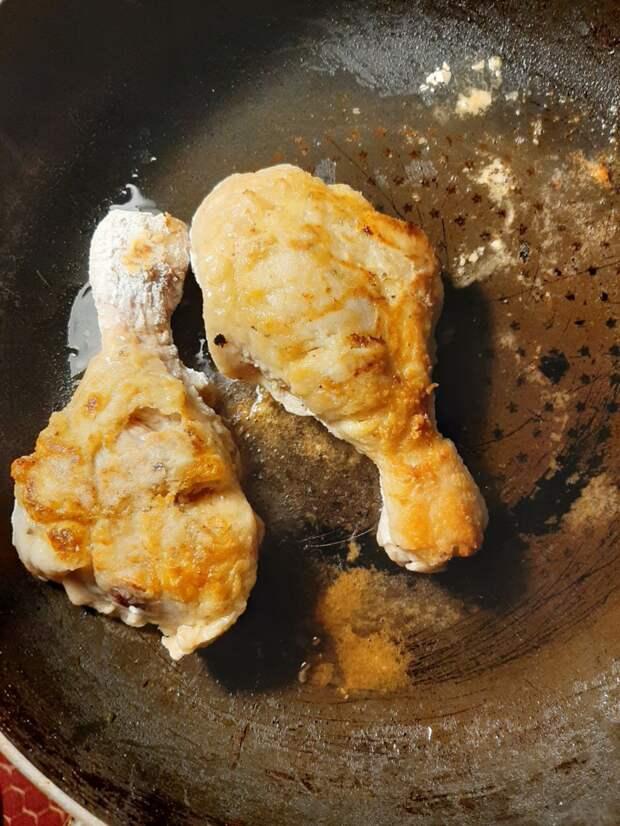 Простой способ быстро и очень вкусно пожарить курицу