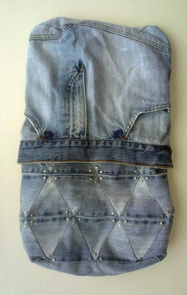 Рюкзачок из джинсов