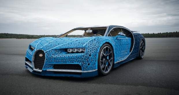 Bugatti из миллиона кубиков. На ней можно прокатиться!