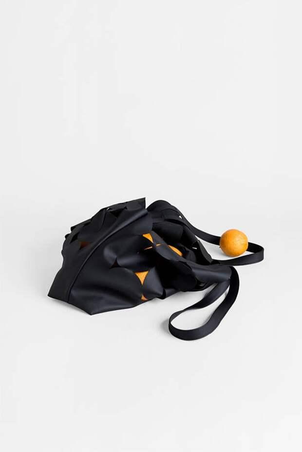 Кожаная сумка с прорезями