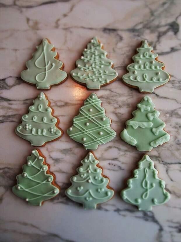 Рождественские торты и печенье (подборка)