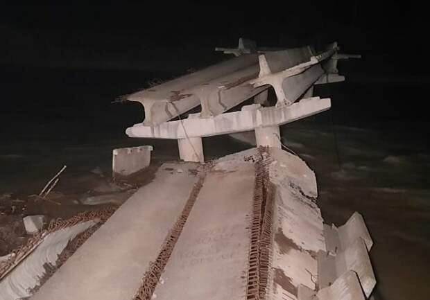 В Лабинском районе обрушился мост