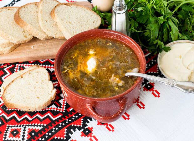 Зеленый борщ: вкусный весенний рецепт