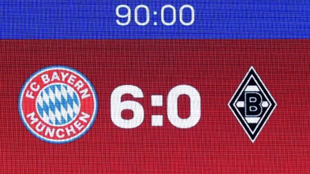 «Бавария» забила 6 голов «Боруссии» Менхенгладбах. Левандовски оформил хет-трик