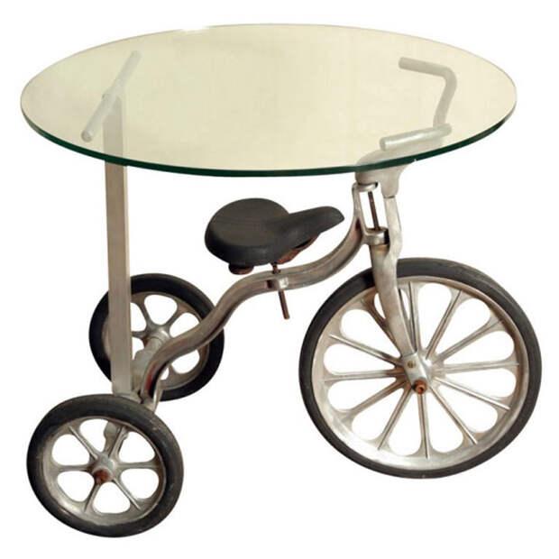 Кофейный столик из старого велосипеда