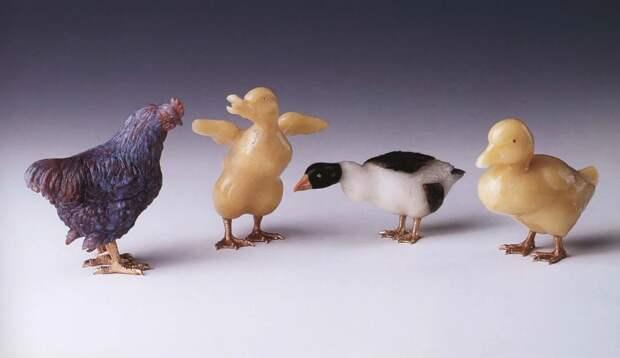 Камнерезные фигурки птиц фирмы Фаберже из королевской коллекции, фото № 18