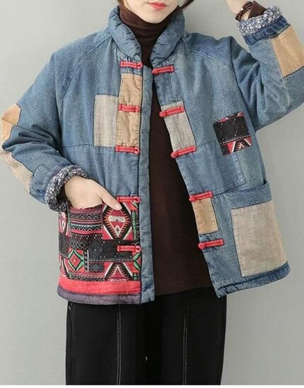 Куртки в стиле Бохо. В технике Пэчворк, Боро, Сашико