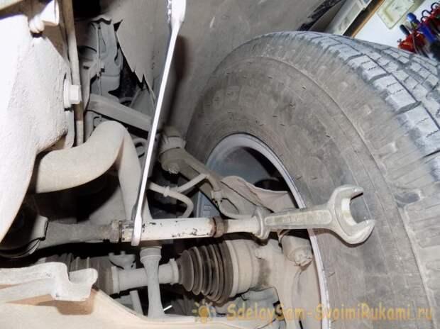 Развал  схождение колес автомобиля своими руками