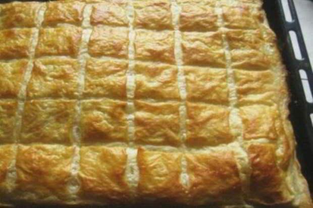 Слоеный пирог, как хачапури. Вкуснейшая начинка из сыра!
