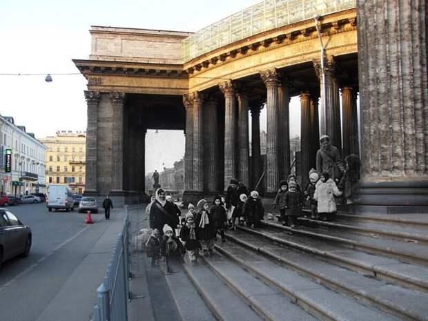 Ленинград 1941-2009 Казанский собор. Дети блокадного города блокада, ленинград, победа