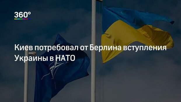 Киев потребовал от Берлина вступления Украины в НАТО
