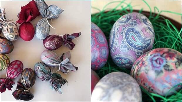 необычное окрашивание яиц на пасху