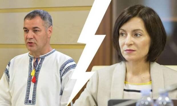 Молдавские унионисты обрушились наСанду зацветы наДень Победы