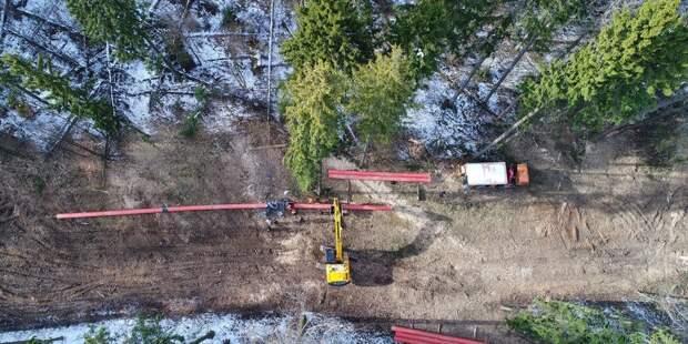 На Щукинском полуострове началась реконструкция газопровода