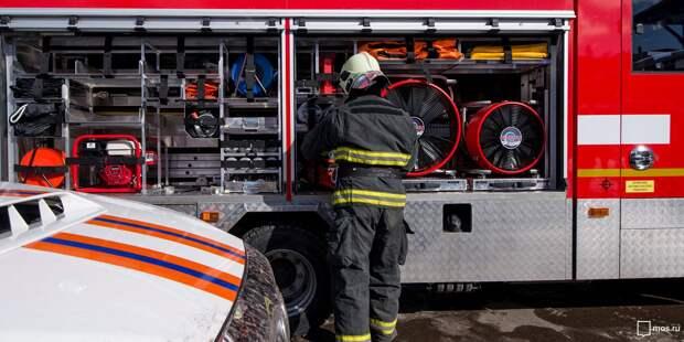 Пожар в бытовках на проспекте Мира ликвидировали