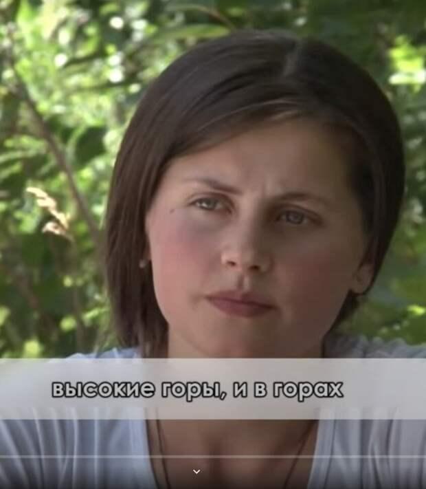 Девушка Мадина, живет в Хороге. Фото из видео на YouTube. У нее самая яркая балто-славянская внешность.